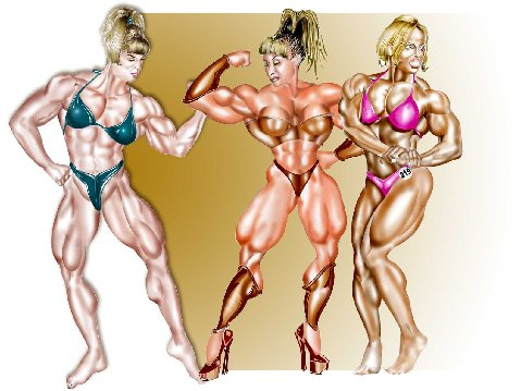 female bodybuilder fantasy art
